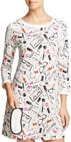 Kate Spade Brushed Jersey Sleepshirt & Eyemask Set