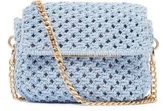 Forever New Camille Crochet Crossbody Bag - Blue - 00