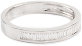 Ef Collection 14k Half Diamond Baguette Stack Ring