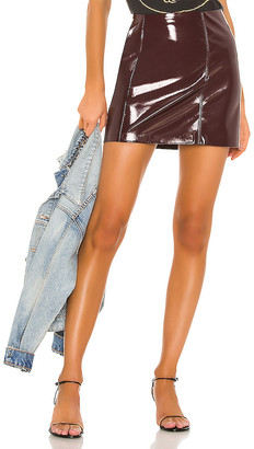 Blank NYC BLANKNYC Raspberry Beret Vegan Leather Mini Skirt