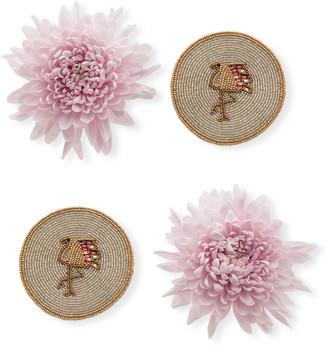 Joanna Buchanan Flamingo Coasters, Set of 4
