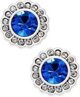 Vera Bradley Silver-Tone Pavé Color Stud Earrings