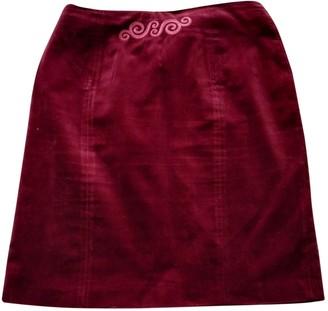 Burberry Burgundy Velvet Skirt for Women Vintage