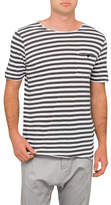 Bassike Stripe Original Button Pkt Tee