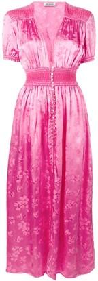 ATTICO plunge neck maxi dress