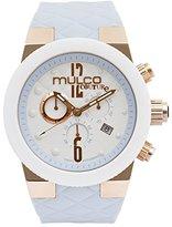 Mulco Women's MW5-2552-413 Couture Analog Display Swiss Quartz Blue Watch