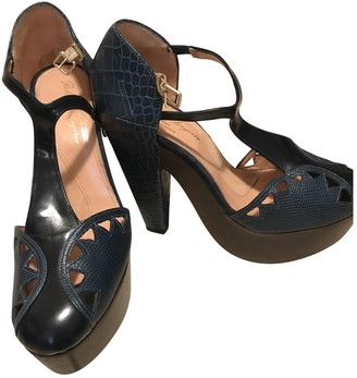 Clergerie Blue Leather Sandals