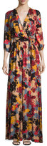 Rachel Pally Ingrid Printed Tie-Waist Maxi Dress