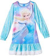 Disney Disney's Frozen Elsa Girls 4-10 Velvety Nightgown