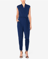 Catherine Malandrino Catherine Ruched Faux-Wrap Jumpsuit