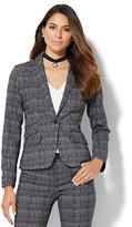 New York & Co. 7th Avenue Design Studio - One-Button Jacket - Signature Fit - Black & White Plaid - Petite