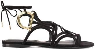 Salvatore Ferragamo gladiator lace up sandals