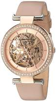 Kenneth Cole New York Women's 'Auto' Quartz Brass-Plated-Stainless-Steel and Leather Dress Watch, Color:Brown (Model: KC15107002)