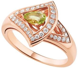 Bvlgari Rose Gold, Diamond and Green Tourmaline Divas' Dream Ring