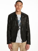 Scotch & Soda Fitted Leather Jacket