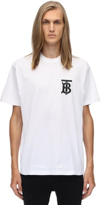 Burberry Tb Logo Print Cotton Jersey T-Shirt