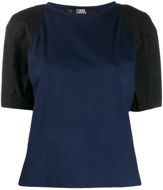 Karl Lagerfeld Paris contrast sleeve T-shirt