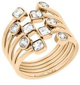 Michael Kors Modern Brilliance Crystal Ring/Goldtone