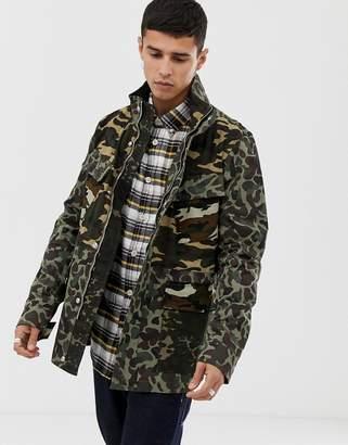 Paul Smith camo field jacket in khaki-Green