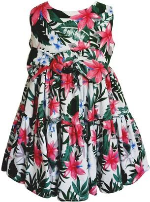 Popatu Tropical Floral Tiered Dress