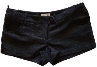 Pinko Black Cloth Shorts for Women