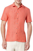 Perry Ellis Short Sleeved Button Front Shirt