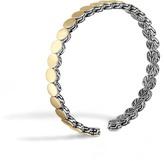 John Hardy Dot 5.5MM Cuff in Silver and 18K Gold