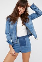 Free People Patched High & Tight Denim Shorts