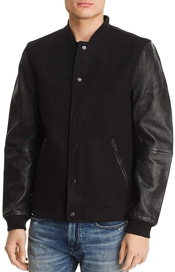 Superdry Varsity Leather Bomber Jacket