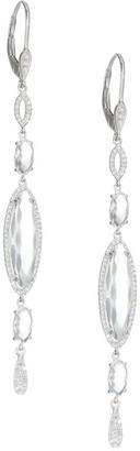 Meira T 14K White Gold & Topaz Drop Earrings