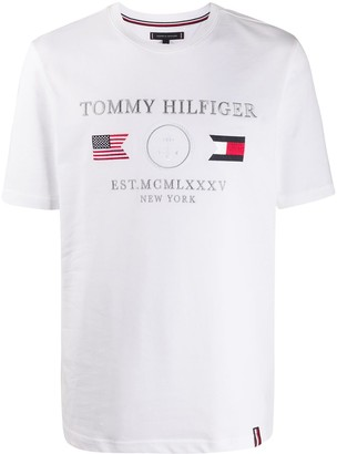 Tommy Hilfiger embroidered flag logo T-shirt