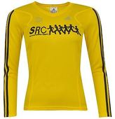 adidas Womens Ladies Src Sports Running Long Sleeved Top V Neck
