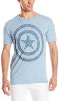 Marvel Men's Short Sleeve Captain America Shield Logo Graphic Tee Shirt