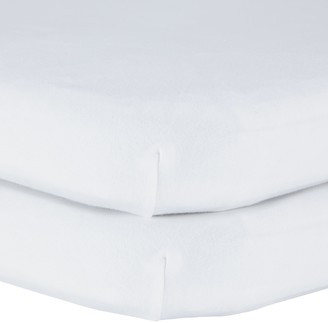 John Lewis & Partners GOTS Organic Cotton Fitted Bedside Crib Sheet, Pack of 2, 50 x 83cm