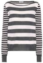 Max Mara Marica striped silk and cashmere sweater