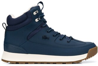 Lacoste Logo High-Top Sneakers