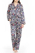 Cabernet Petite Paisley Satin Pajamas