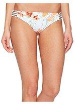 Roxy Women's Printed Strappy Love Reversible 70's Bikini Bottom