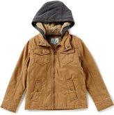 Class Club Big Boys 8-20 Hooded Twill Coat