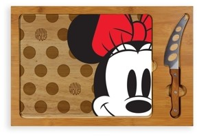 Picnic Time Toscana by Disney's Minnie Mouse Icon Glass Top Cutting Board & Knife Set