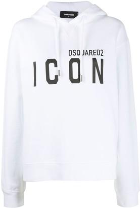 DSQUARED2 Icon-print hooded sweatshirt