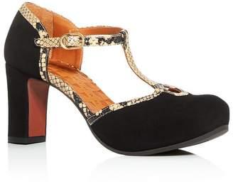 Chie Mihara Women's Ibis T-Strap Platform Sandals