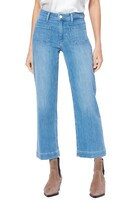 Paige Nellie High Waist Patch Pocket Culotte Jeans