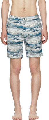 Onia Blue Art Scenery The Calder 7.5 Swim Shorts