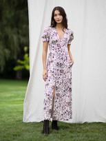 Diane von Furstenberg TVF Lavender Satin-Blend Maxi Dress