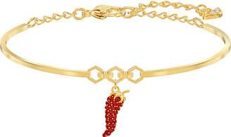 Swarovski Gold-Tone Pave Pepper Bangle Bracelet