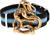 Gabriele Frantzen Black Striped Watch Snake Bracelet