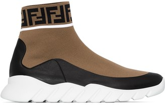 Fendi Mania logo sock sneakers