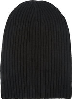 Barneys New York Women's English Rib-Knit Beanie-BLACK