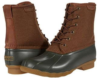 Sperry Saltwater Duck Wool (Buffalo Check/Black) Shoes